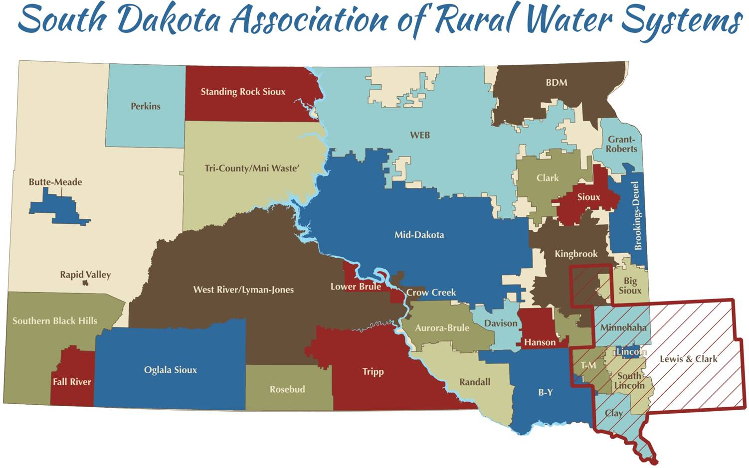 SD Rural Water Map